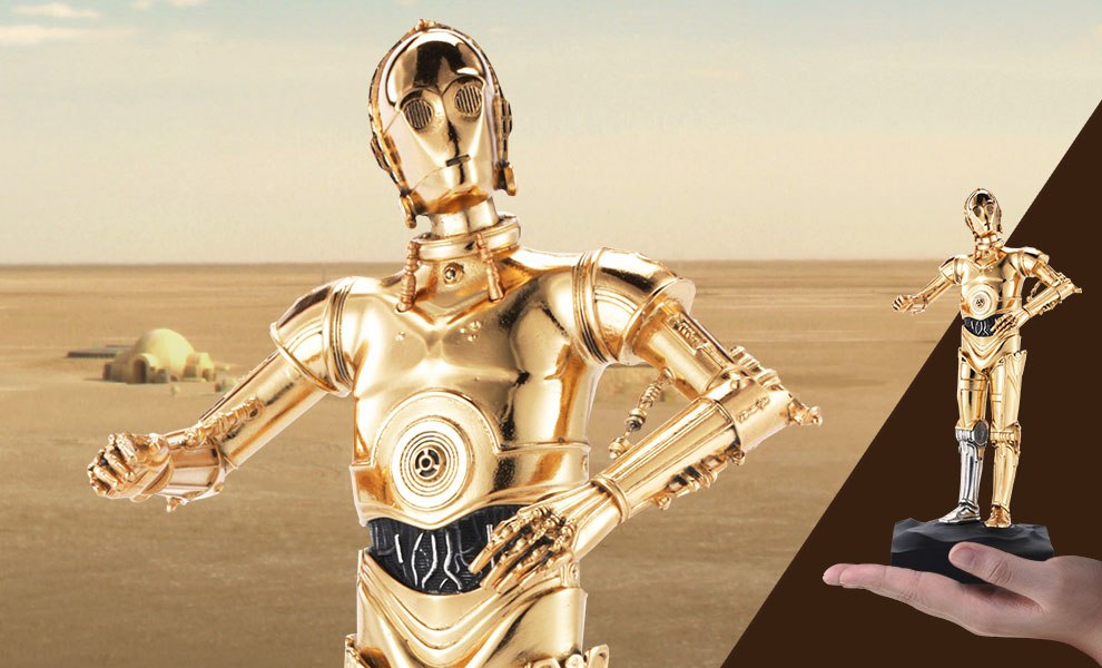 Gallery Feature Image of C-3PO Figurine Pewter Collectible - Click to open image gallery