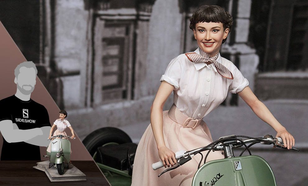 Gallery Feature Image of Princess Ann & 1951 Vespa 125 Statue - Click to open image gallery