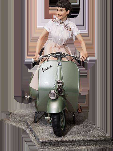 Blitzway Princess Ann & 1951 Vespa 125 Statue