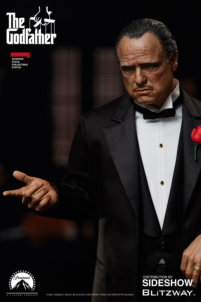 The Godfather Vito Corleone Statue by Blitzway