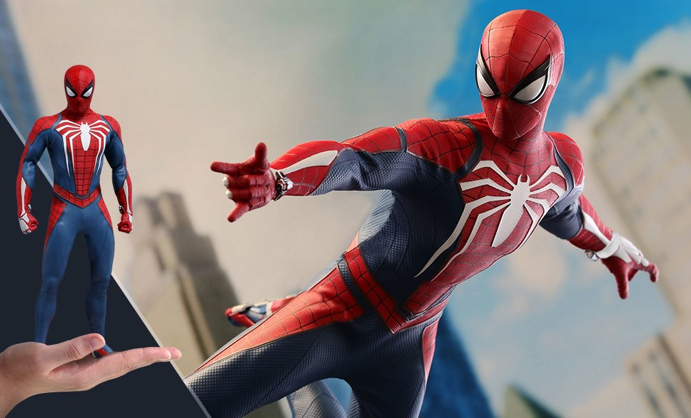 Gallery Feature Image of Spider-Man Advanced Suit Sixth Scale Figure - Click to open image gallery