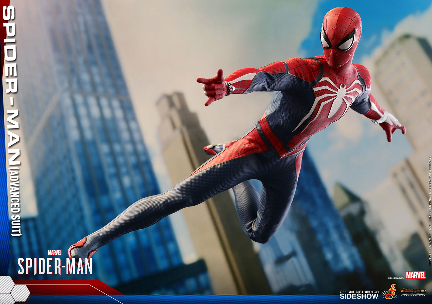 Marvel Spider-Man Advanced Suit Sixth Scale Figure by Hot To