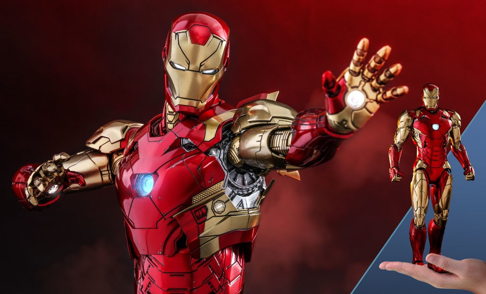 Gallery Feature Image of Iron Man Mark XLVI Concept Art Version Sixth Scale Figure - Click to open image gallery