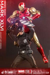 Gallery Image of Iron Man Mark XLVI Concept Art Version Sixth Scale Figure