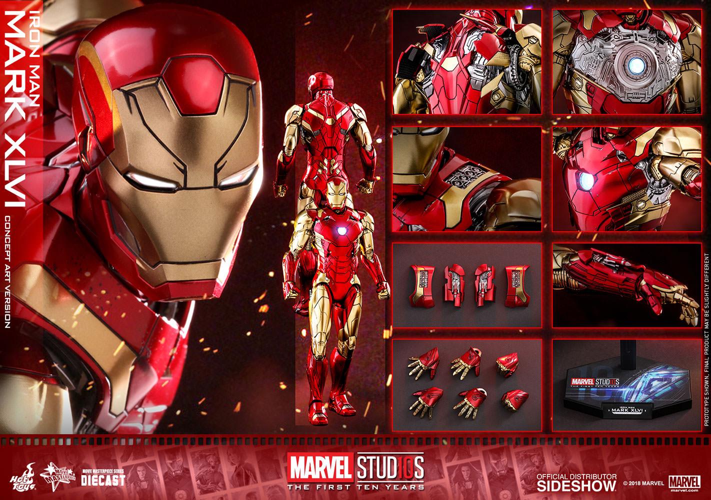 Marvel Iron Man Mark XLVI Concept Art Sixth Scale Figure
