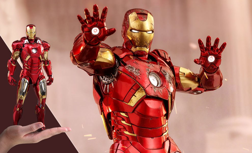 Gallery Feature Image of Iron Man Mark VII Sixth Scale Figure - Click to open image gallery