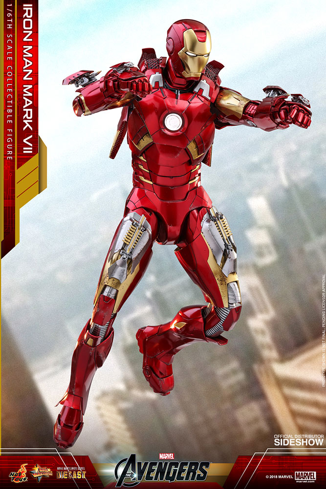 Marvel Iron Man Mark VII Sixth Scale Figure by Hot Toys