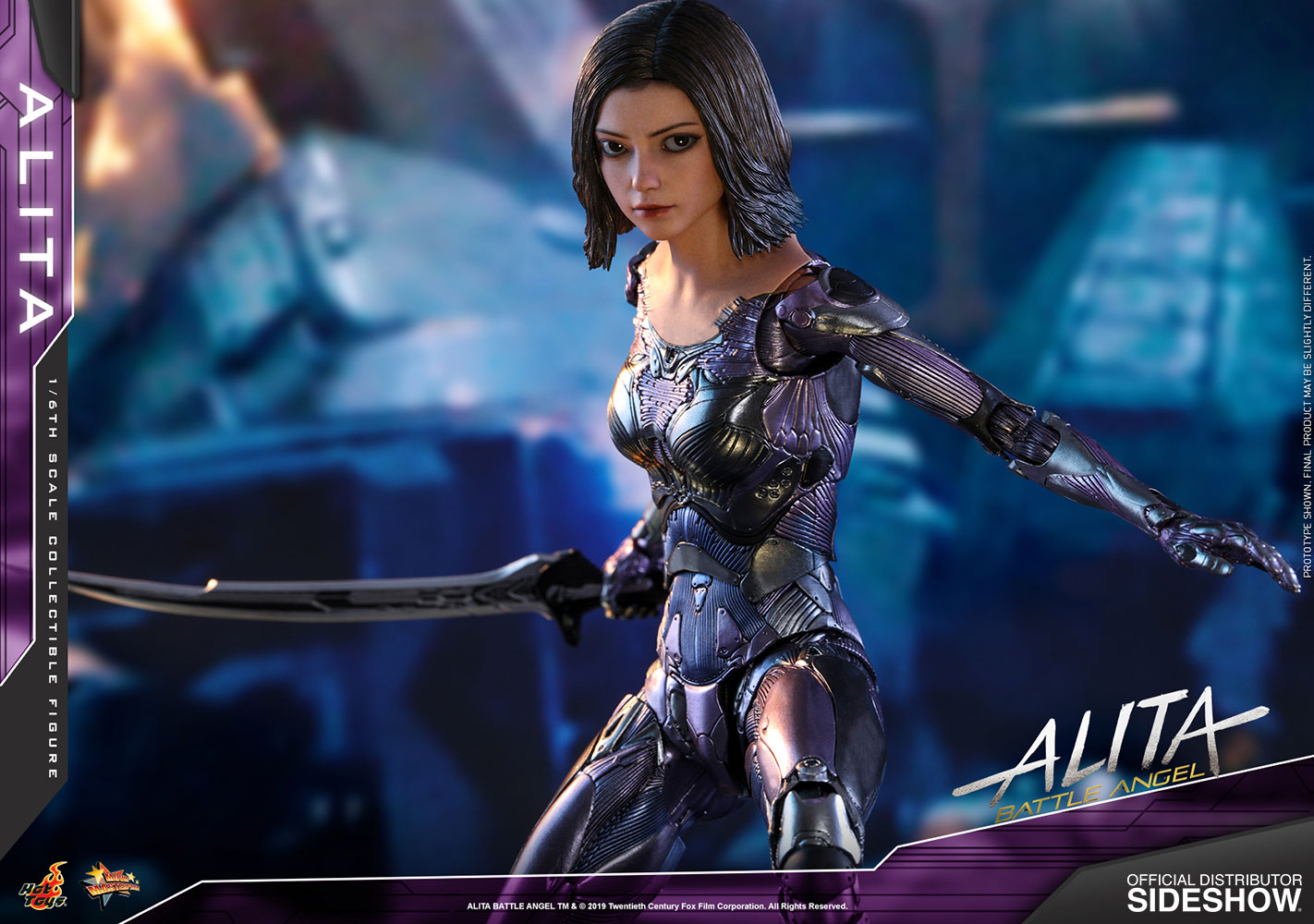 alita battle angel sixth scale figure by hot toys