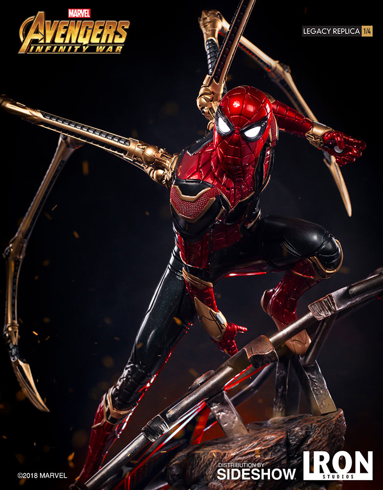Marvel Iron Spider-Man Statue by Iron Studios   Sideshow ...