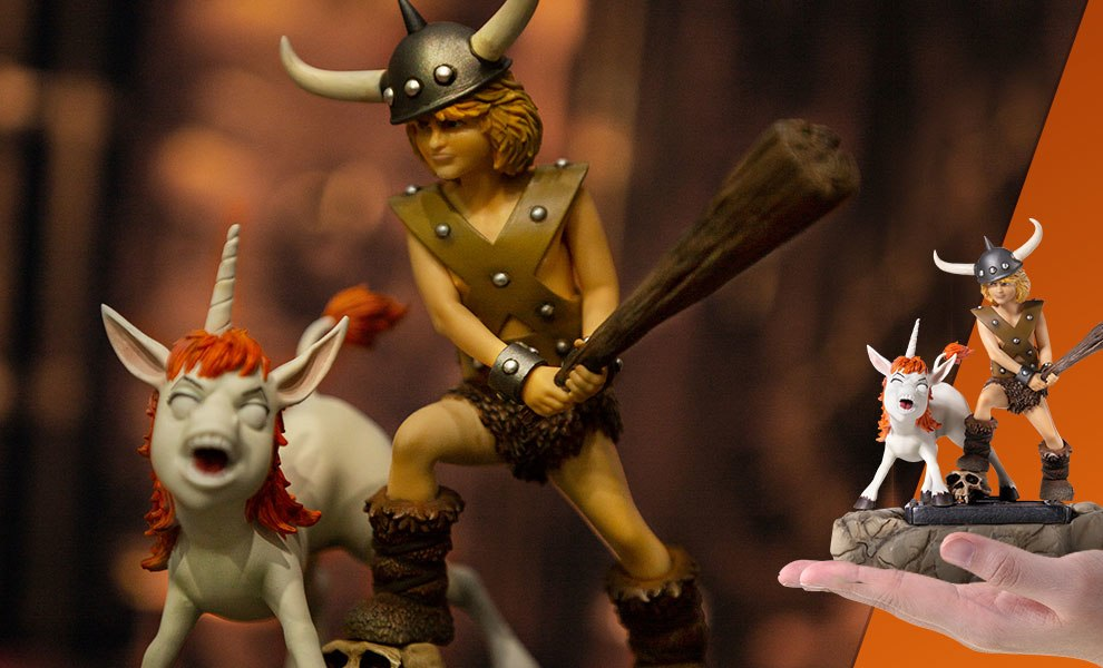 Gallery Feature Image of Bobby the Barbarian and Uni 1:10 Scale Statue - Click to open image gallery