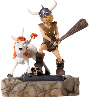 Bobby the Barbarian and Uni 1:10 Scale Statue