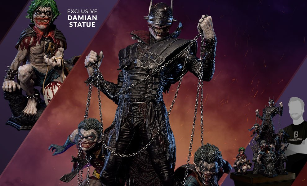 Gallery Feature Image of Batman Who Laughs Deluxe Version Statue - Click to open image gallery