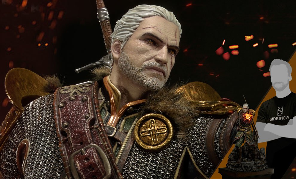 Gallery Feature Image of Geralt of Rivia Skellige Undvik Armor Statue - Click to open image gallery