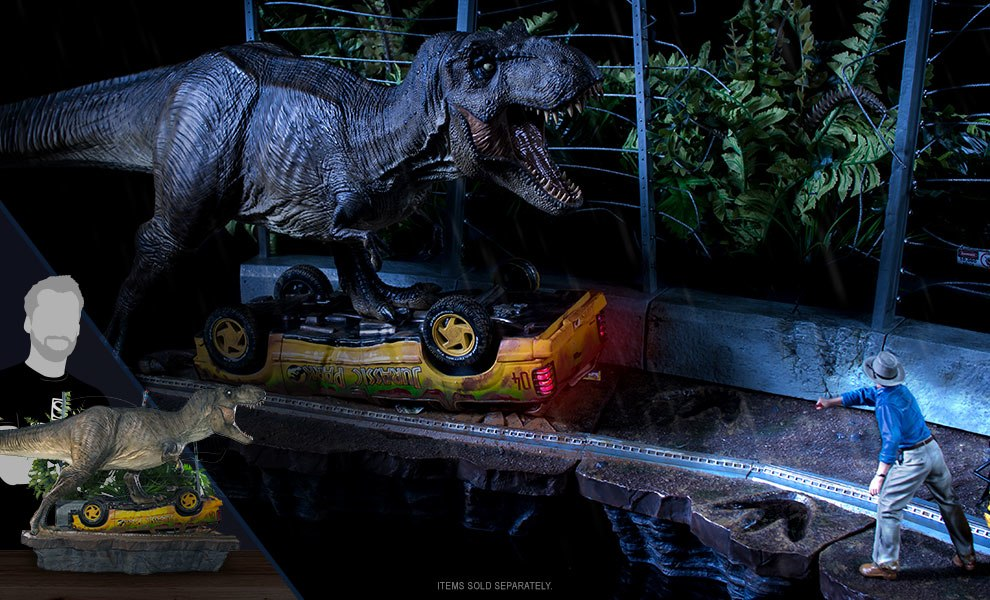 Gallery Feature Image of T-Rex Attack Set A 1:10 Scale Statue - Click to open image gallery