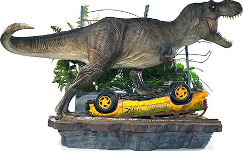 Iron Studios T-Rex Attack Set A 1:10 Scale Statue