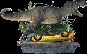 T-Rex Attack Set A 1:10 Scale Statue
