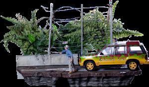 T-Rex Attack Set B 1:10 Scale Statue