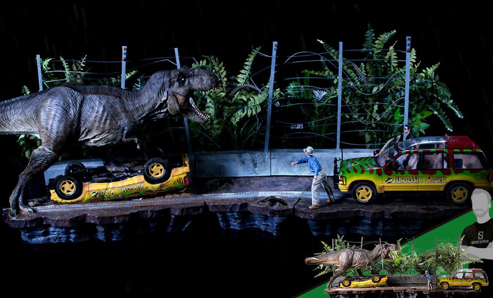 Gallery Feature Image of T-Rex Attack Set A and Set B 1:10 Scale Statue - Click to open image gallery