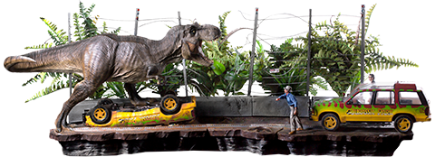 Iron Studios T-Rex Attack Set A and Set B Collectible Set