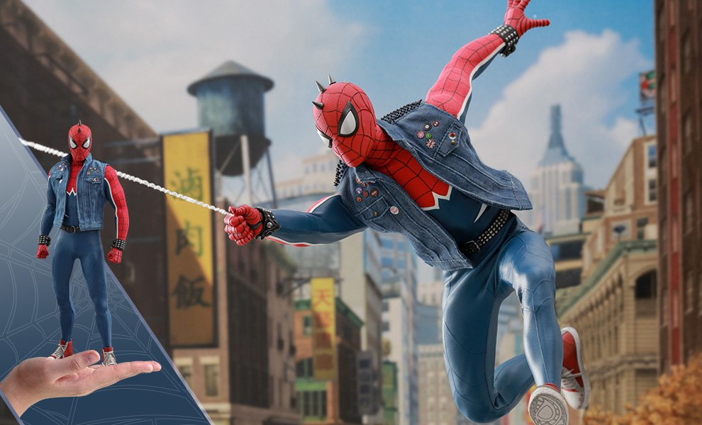 Gallery Feature Image of Spider-Man Spider-Punk Suit Sixth Scale Figure - Click to open image gallery