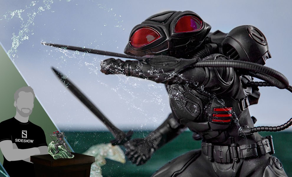 Gallery Feature Image of Black Manta 1:10 Scale Statue - Click to open image gallery