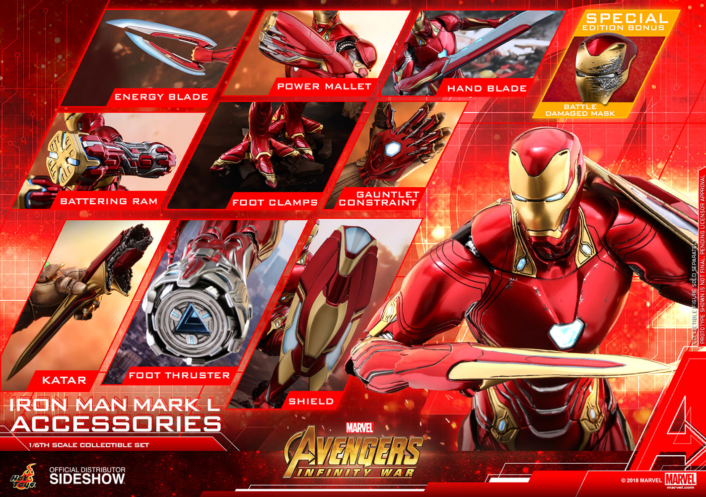 Marvel Iron Man Mark L Accessories Special Edition Set Sideshow