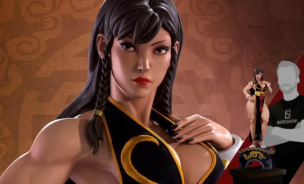Gallery Feature Image of Chun-Li Battle Dress Statue - Click to open image gallery