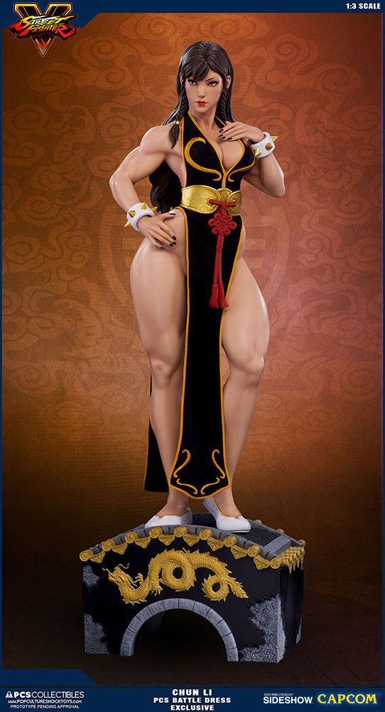 Chun Li Street Fighter Battle Dress Statue