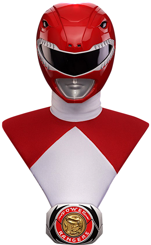 Pop Culture Shock Red Ranger Life-Size Bust