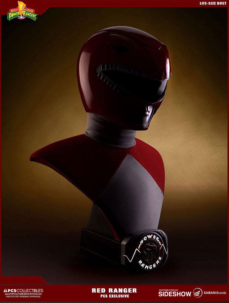Mighty Morphin Power Rangers Red Ranger Life-Size Bust by Po
