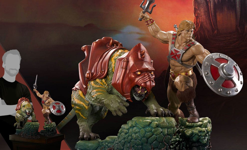 Gallery Feature Image of He-Man and Battlecat Combo Collectible Set - Click to open image gallery