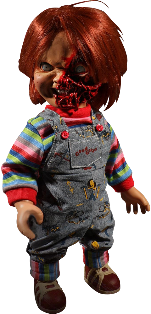 Mezco Toyz Talking Pizza Face Chucky Collectible Figure
