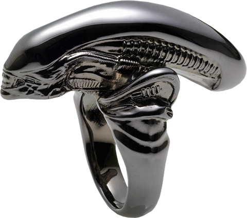 TORCH TORCH Alien Big Chap Silver Ring Black Chrome Version Jewelry
