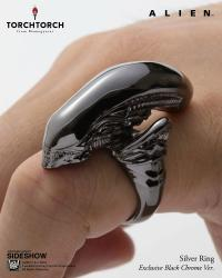 Gallery Image of Alien Big Chap Silver Ring Black Chrome Version Jewelry