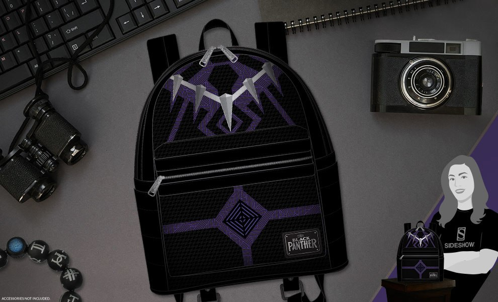 Gallery Feature Image of Black Panther Mini Backpack Apparel - Click to open image gallery