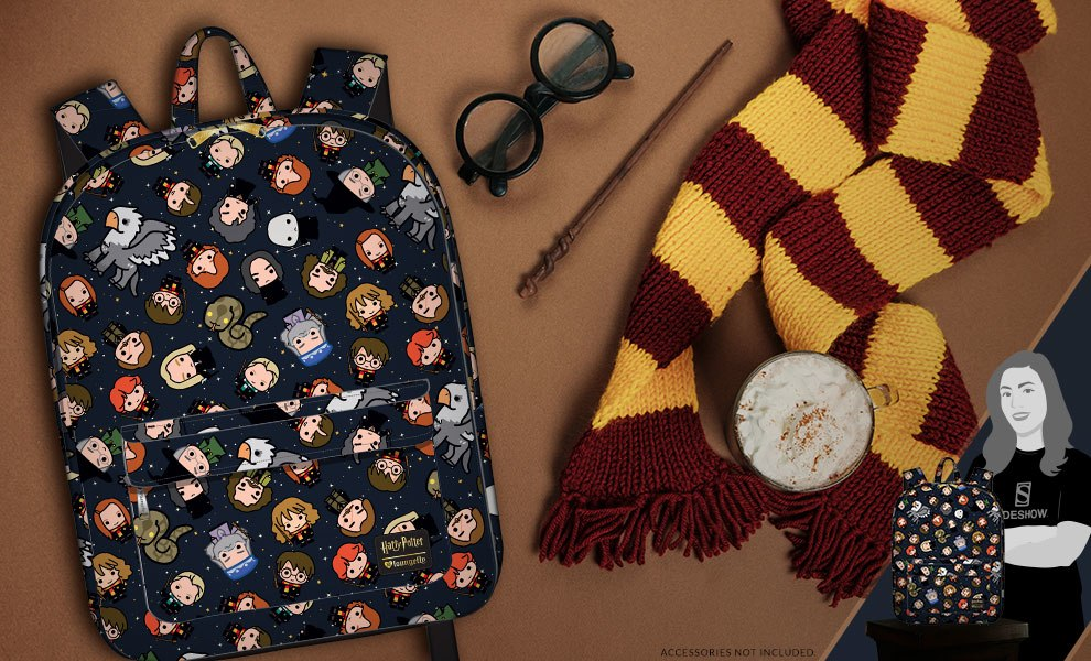 Gallery Feature Image of Harry Potter Chibi Print Backpack Apparel - Click to open image gallery