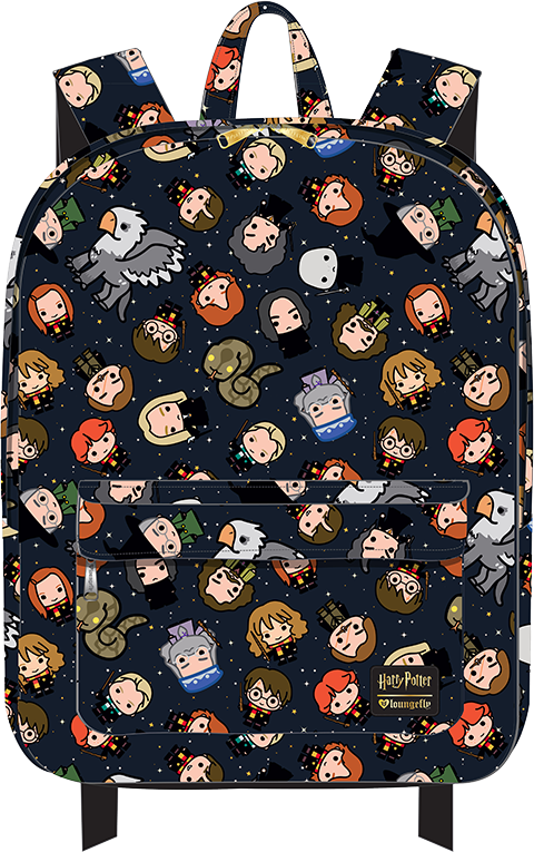 Loungefly Harry Potter Chibi Print Backpack Apparel