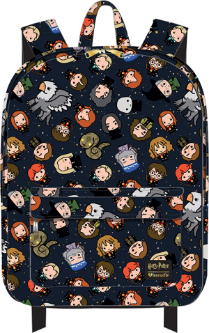Harry Potter Chibi Print Backpack Apparel