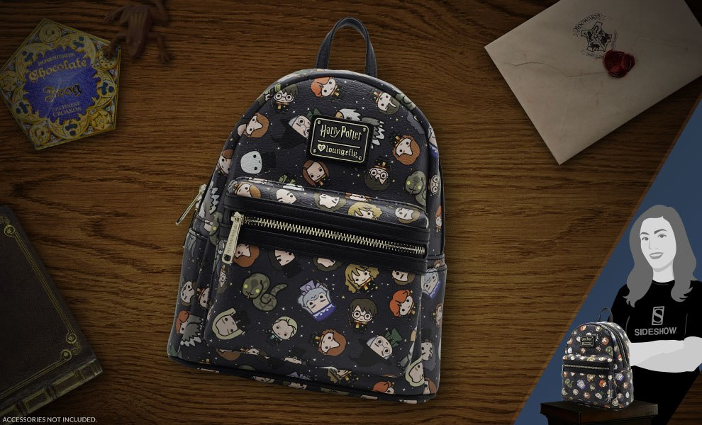 Gallery Feature Image of Harry Potter Chibi Print Mini Backpack Apparel - Click to open image gallery