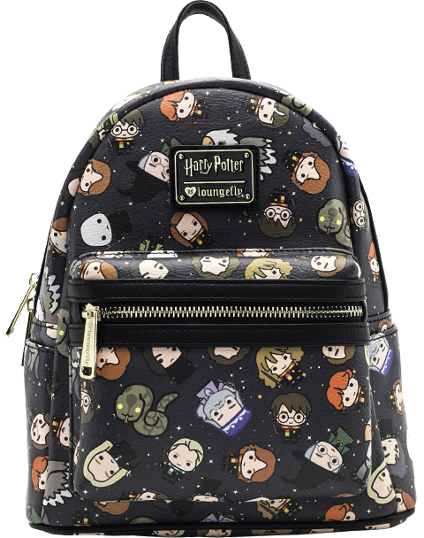 Loungefly Harry Potter Chibi Print Mini Backpack Apparel