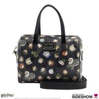 Gallery Image of Harry Potter Chibi Print Leather Duffle Bag Apparel