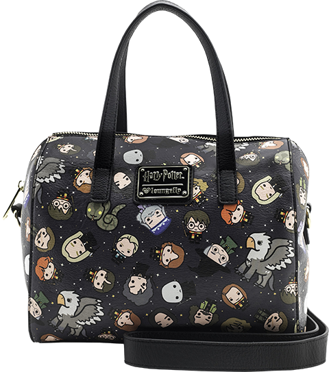 Loungefly Harry Potter Chibi Print Leather Duffle Bag Apparel