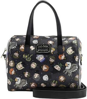 Harry Potter Chibi Print Leather Duffle Bag Apparel