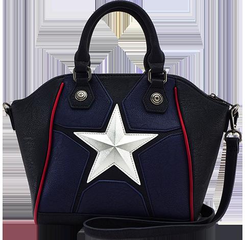 Loungefly Captain America Cosplay Crossbody Bag Apparel