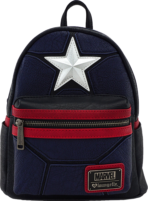 Loungefly Captain America Cosplay Mini Backpack Apparel