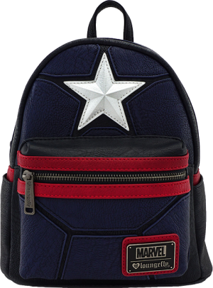 Captain America Cosplay Mini Backpack Apparel