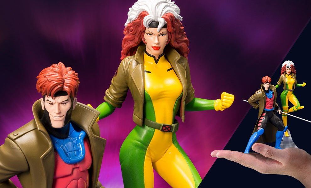 Gallery Feature Image of Gambit and Rogue Two-Pack Set Statue - Click to open image gallery