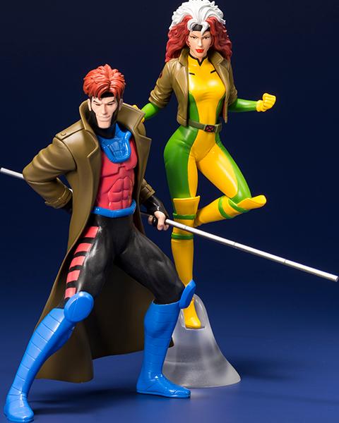 Kotobukiya Gambit and Rogue Two-Pack Set Statue
