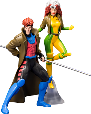 Gambit and Rogue Two-Pack Set Statue