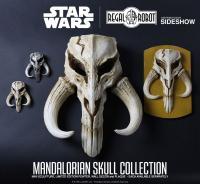 Gallery Image of Mandalorian Skull Pewter Mini Sculpture Statue